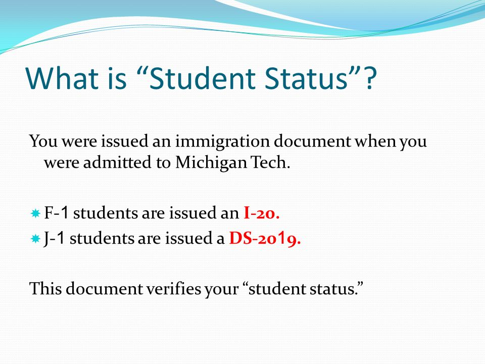 What is Student Status