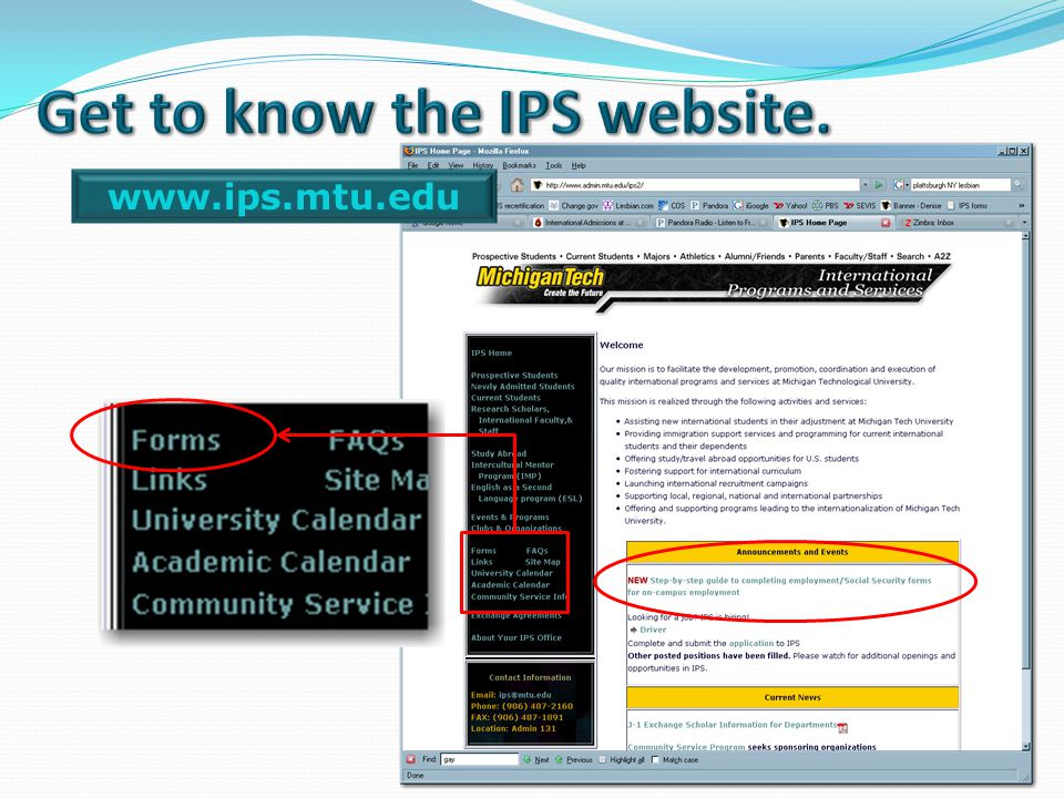 Get to know the IPS website.
