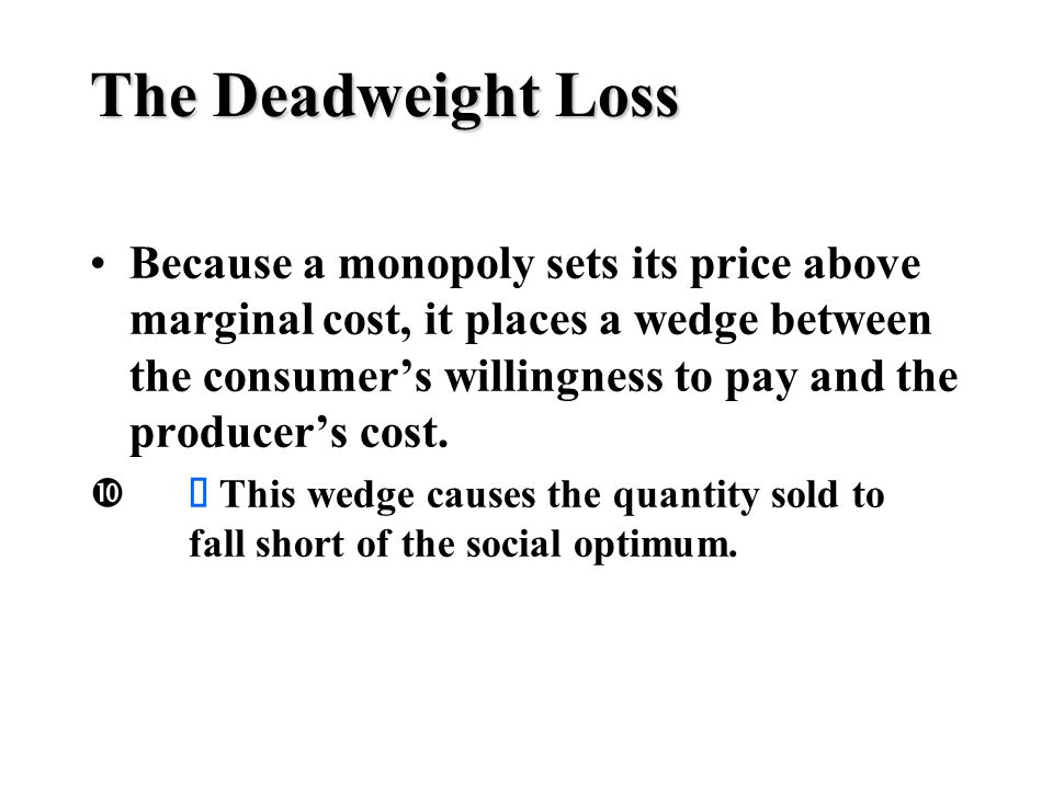 how to find deadweight loss monopoly