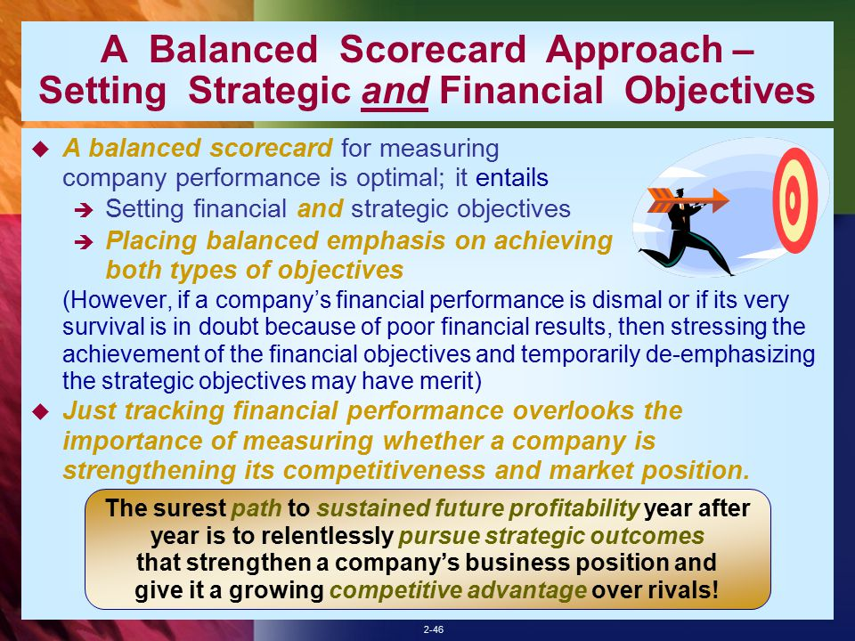 financial objectives vs strategic objectives Business goals vs objectives vs strategies vs tactics  15% by end of 2015 financial  takes to achieve the objectives associated to a strategy.