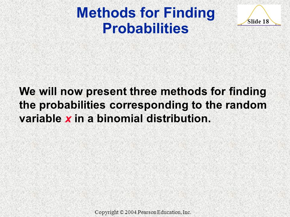 Methods for Finding Probabilities