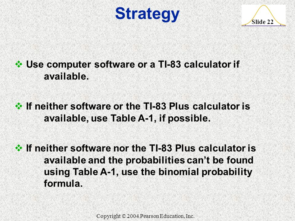 Strategy Use computer software or a TI-83 calculator if available.