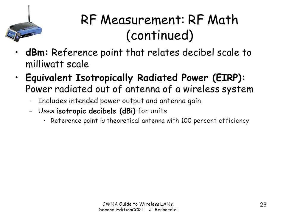 RF Measurement: RF Math (continued)