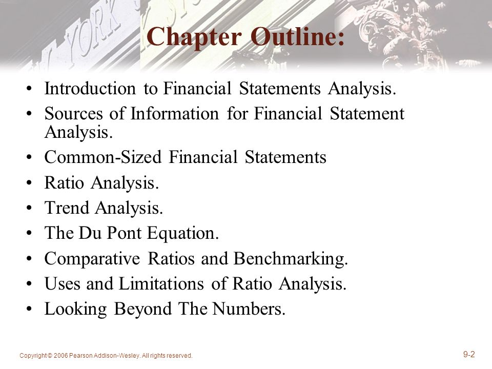 Chapter  Analysis Of Financial Statements  Ppt Download