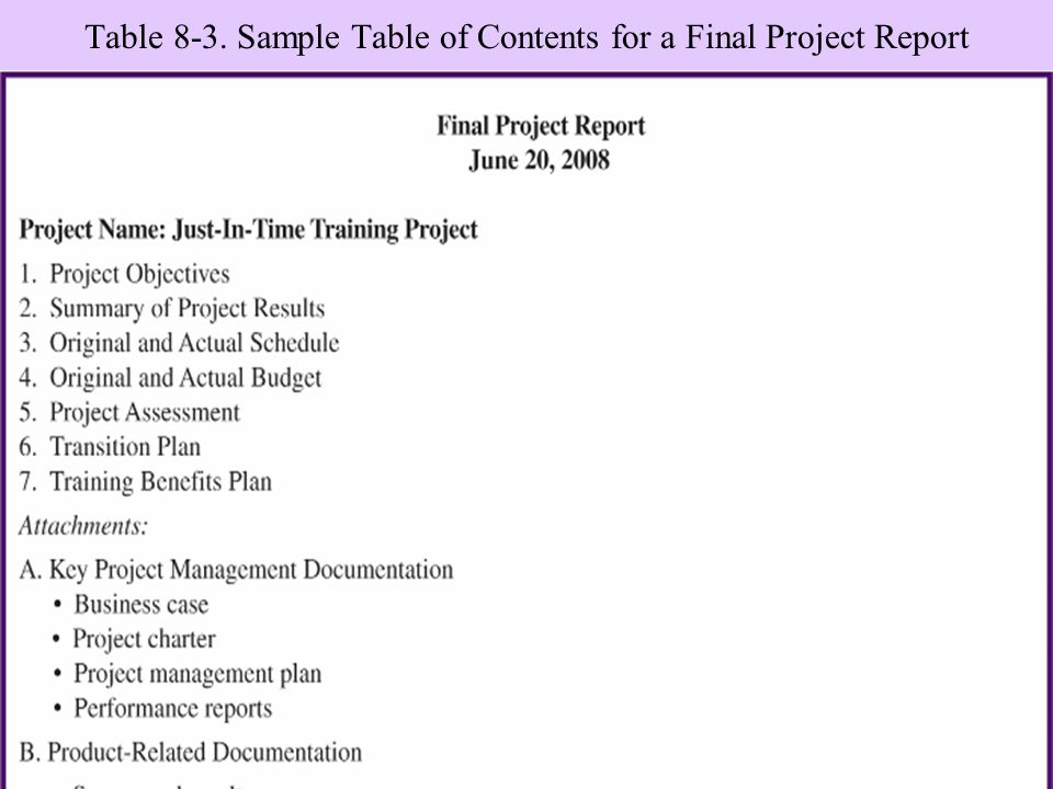 Contents of project study 1