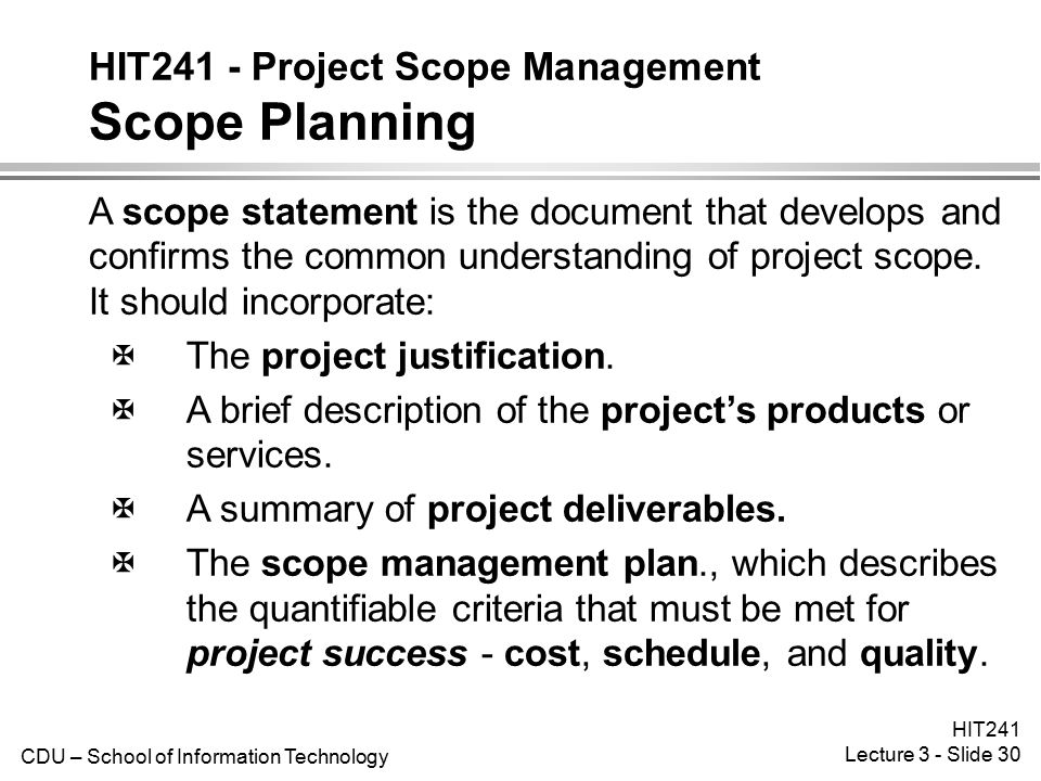 scope plan A project plan, also known as a project management plan, is a document that contains a project scope and objective it is most commonly represented in the form of a gantt chart to make it easy to communicate to stakeholders.