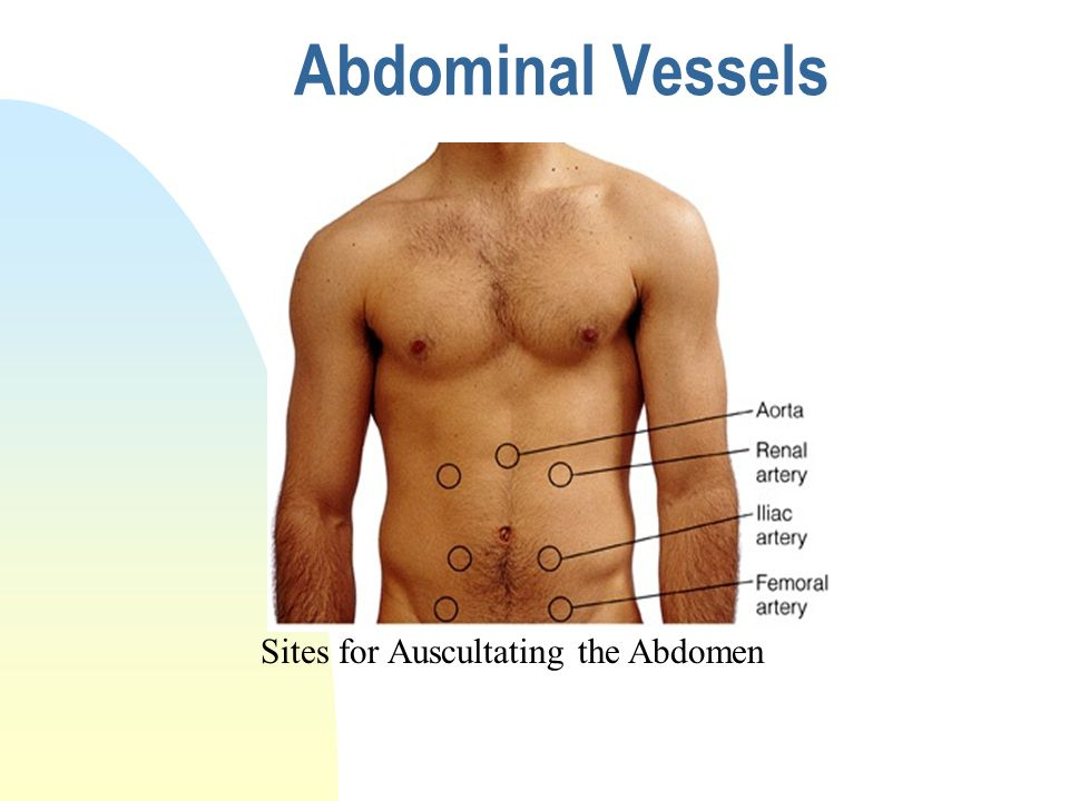 vascular sounds abdominal In another important addition to this series on geriatric assessment,  listen for bowel sounds  geriatric assessment: abdominal and rectal examination -.