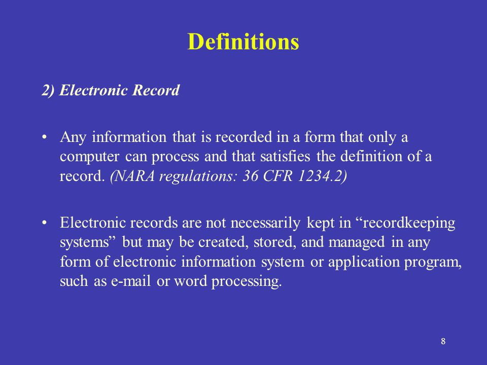 Electronic Recordkeeping Ppt Video Online Download