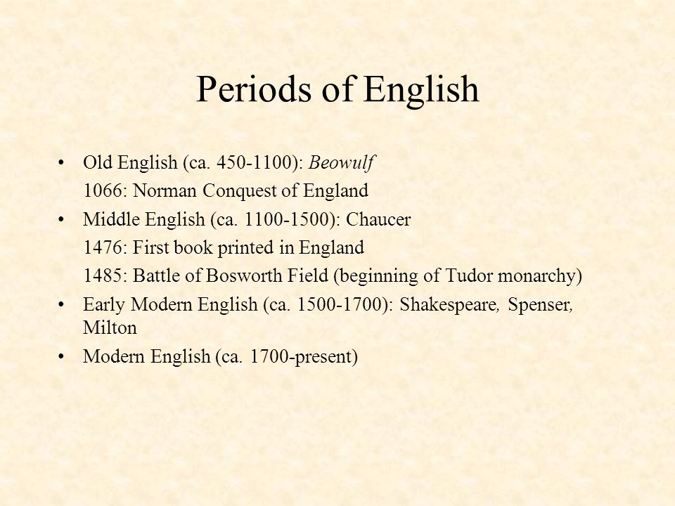 the middle english period 1100 1500 Historical period the chronological boundaries of the middle english period are not easy to define, and scholarly opinions vary the dates that oed3 has settled on are 1150-1500.
