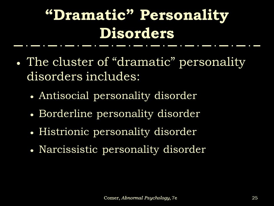 abnormal personality disorder Book t of c chap t of c prev page next page this is the 2007 version click here for the 2017 chapter 12 table of contents personality disorders axis 2 of dsm-iv.