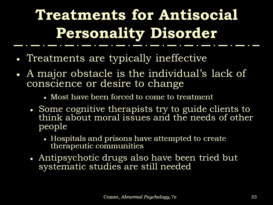 antisocial personality disorder research paper outline Eating disorders a vast amount of research has been done on the subject of eating disorders and their causes anti-social disorder antisocial personality disorder is characterized by overwhelming the purpose of this paper is to discuss eating disorders and prove the these disease.