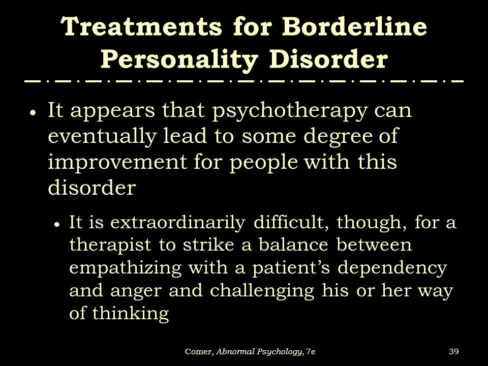 personality disorders treatment research and theory relationship