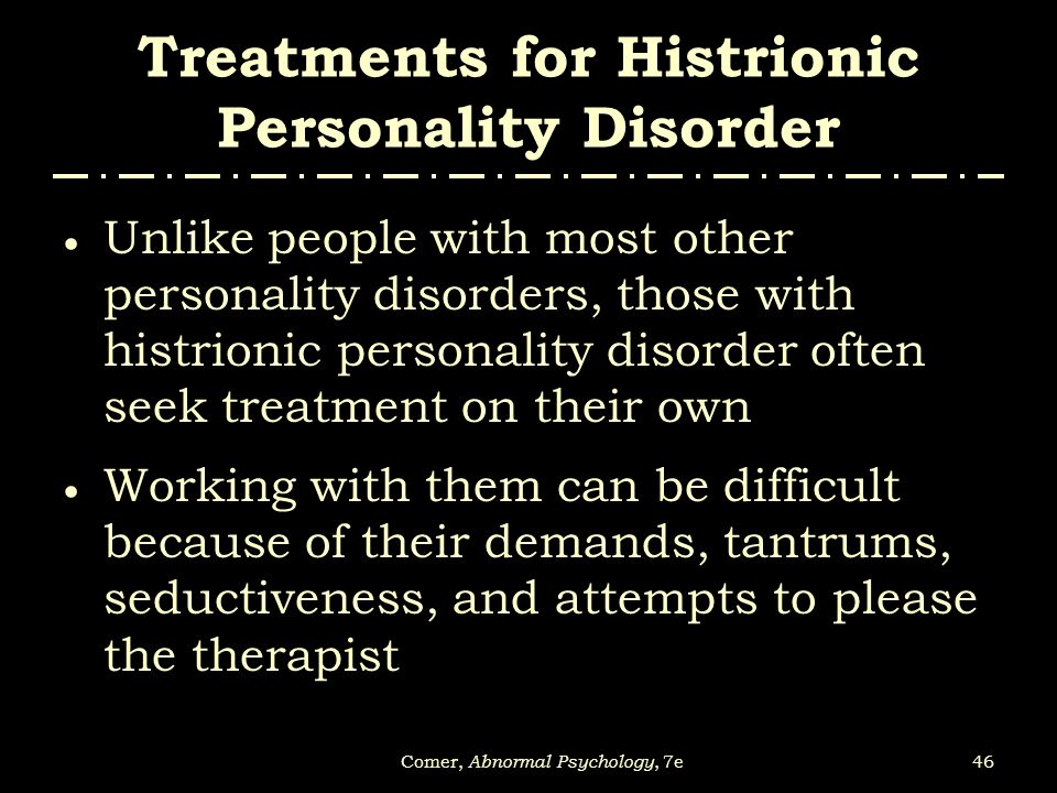 working with personality disorders Both psychological and pharmacological interventions for people with antisocial personality disorder are poorly researched and direct evidence on the treatment of this population is scarce.