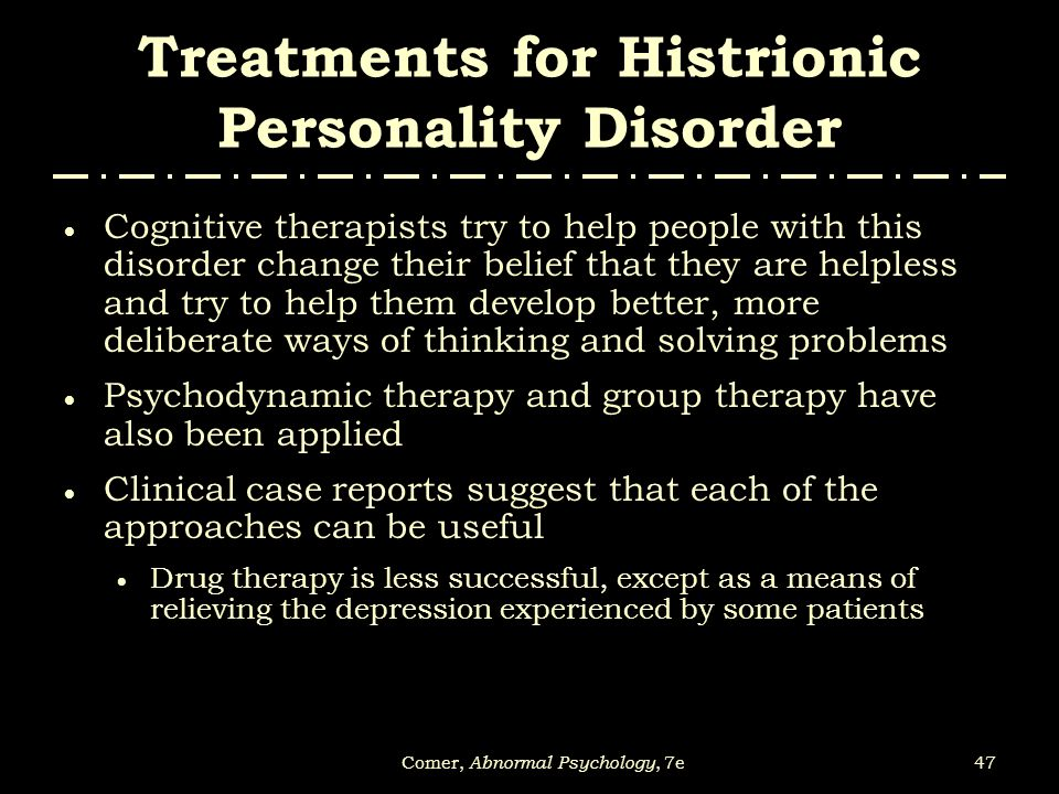 histrionic personality disorder treatment pdf