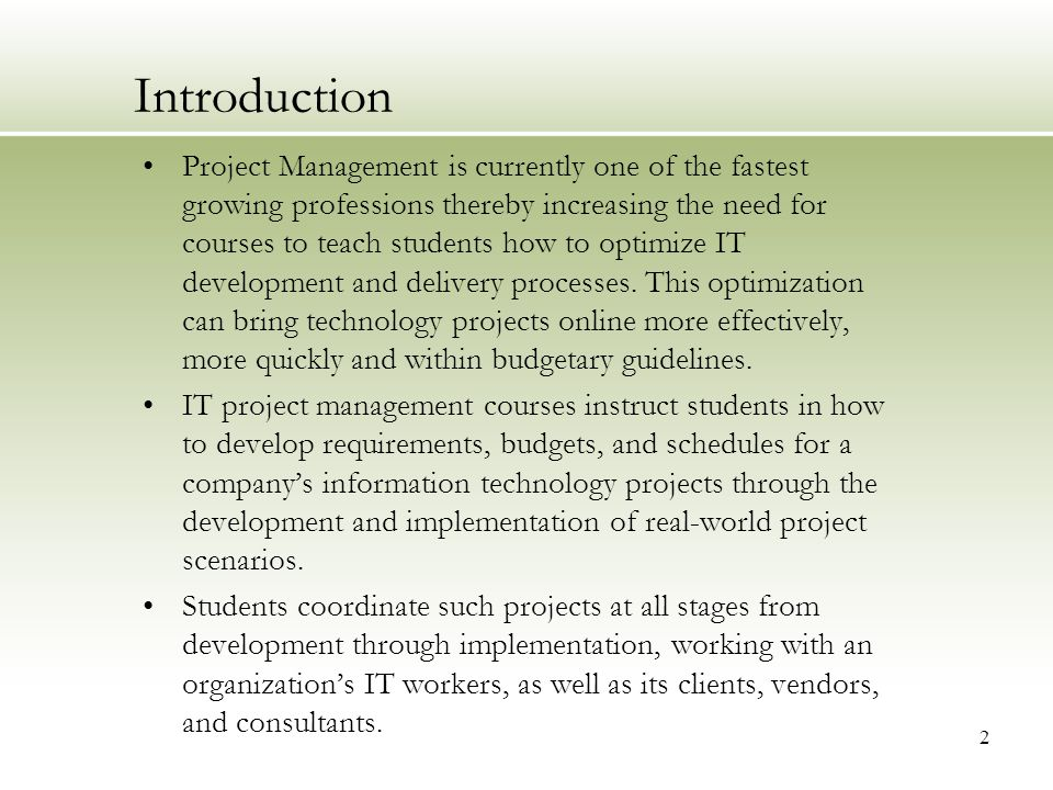 It Project Management Class Project Of A Point Of Sale