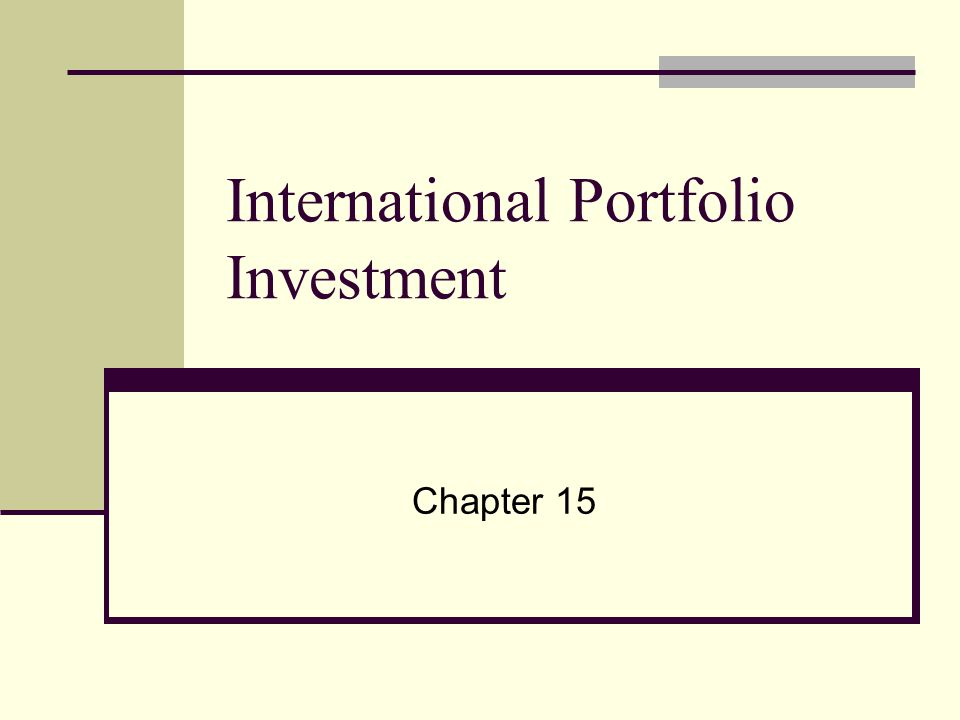chapter 17 international portfolio theory and diversification Where are the benefits of international diversification share tweet  while understanding that the dispersion of returns matters, when we build a portfolio, all else equal, we would prefer to .