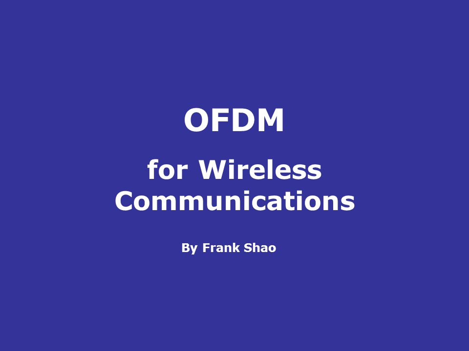 for Wireless Communications