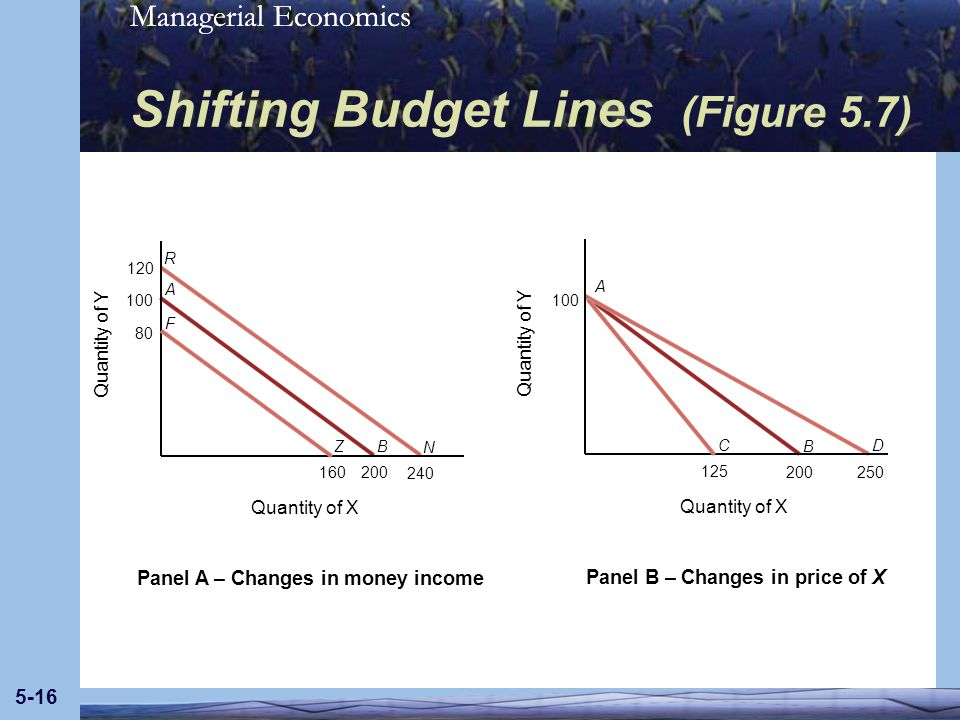 Shifting Budget Lines (Figure 5.7)