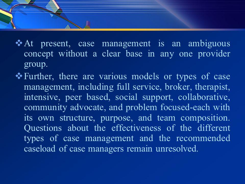 Broker model of case management