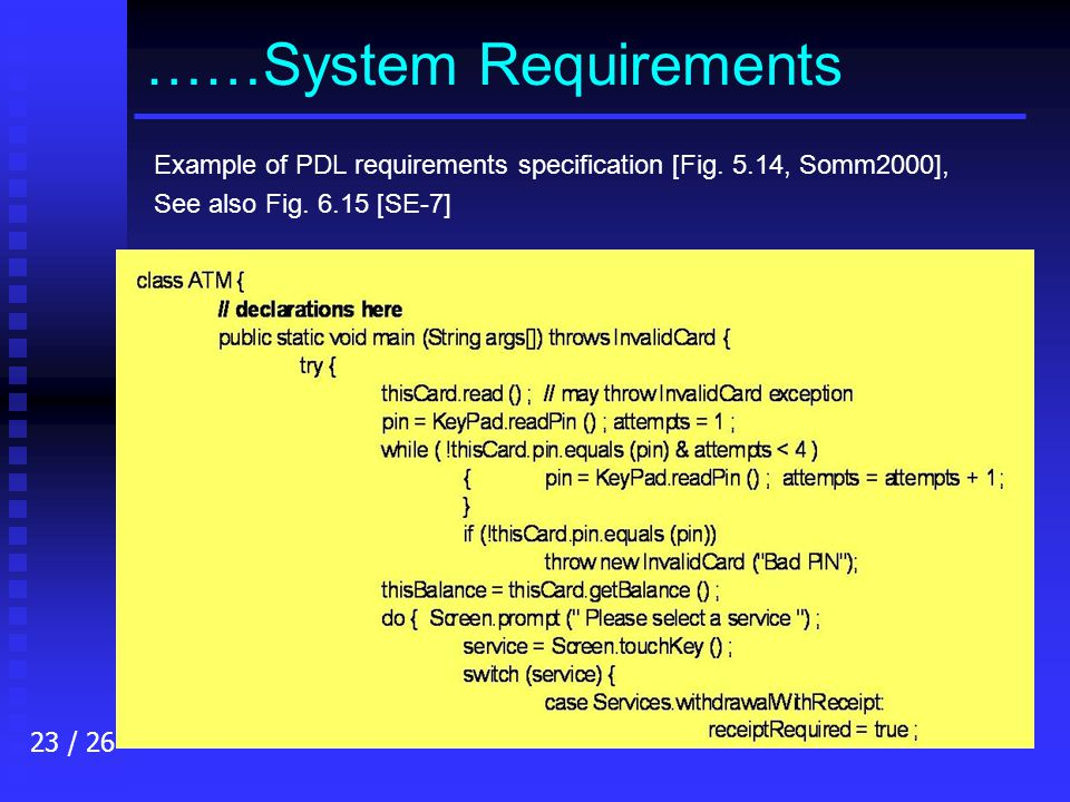 specification of software systems pdf