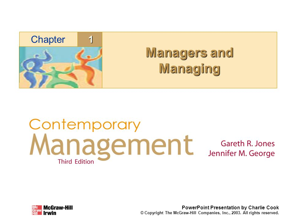 Managers and Managing 1 Chapter