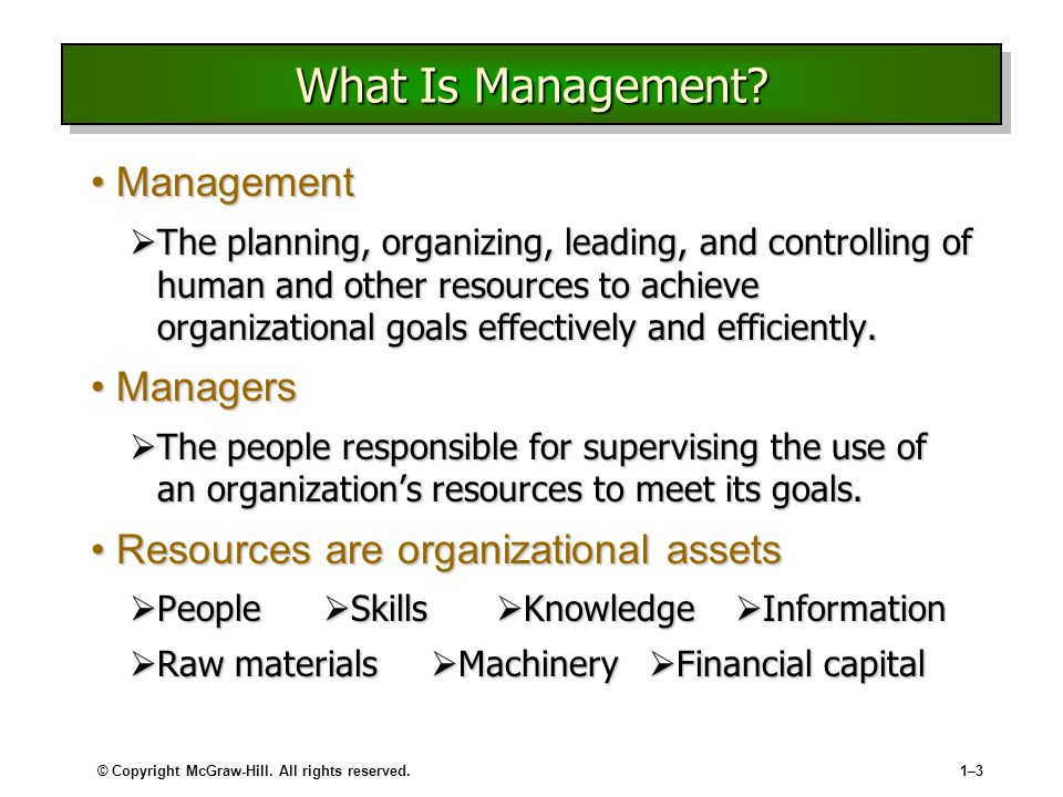 What Is Management Management Managers