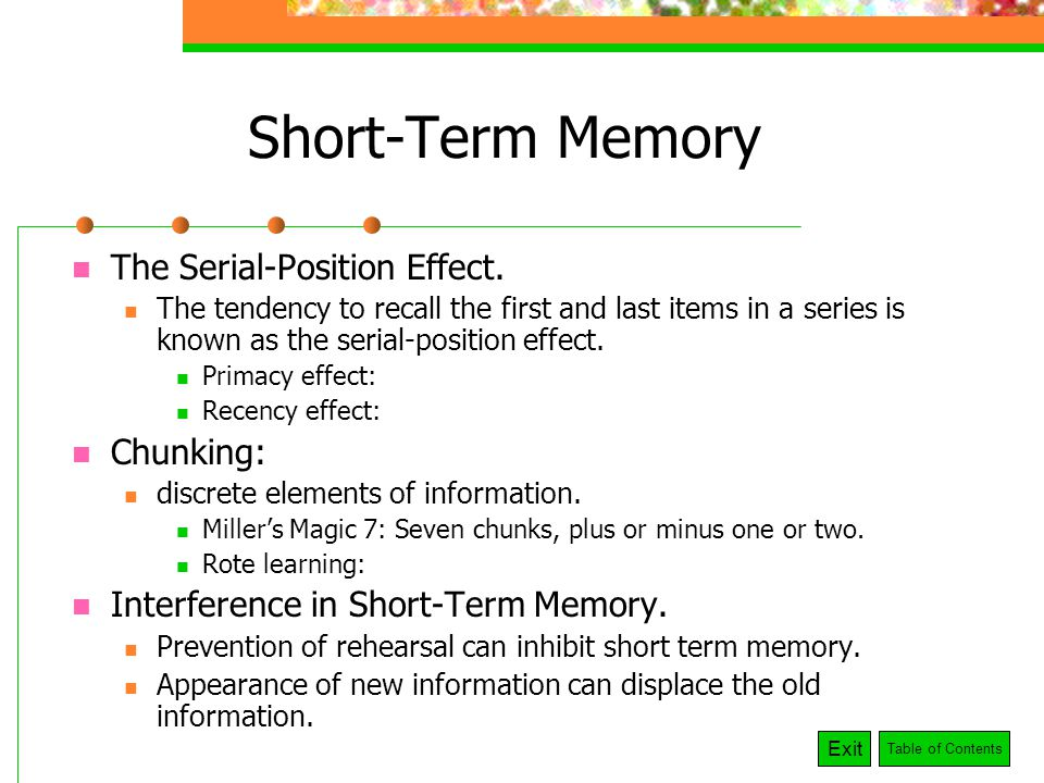 Short Term Memory : Memory remembrance of things past and future ppt video