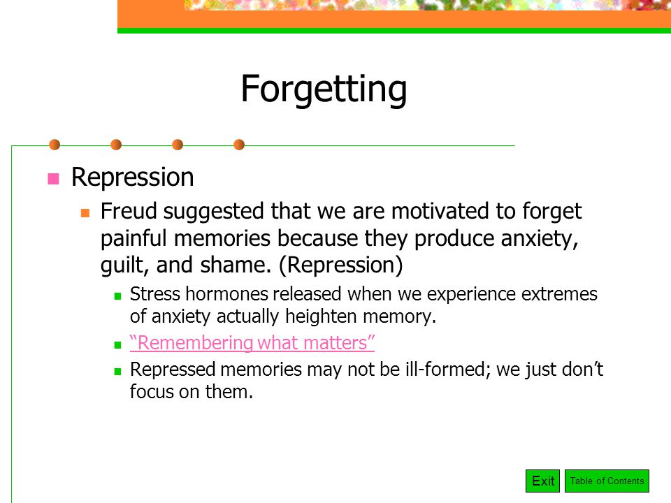 interference and remembering words in short term memory You keep remembering spanish words you learned in high school, these previously learned spanish words are causing _____ interference  short-term memory by.