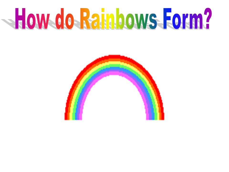how do rainbows form How do double rainbows form regular rainbows occur when moisture in the air – commonly rain, but also mist or spray such as that from a waterfall -refracts sunlight in such a way that it is broken up into its constituent colours.