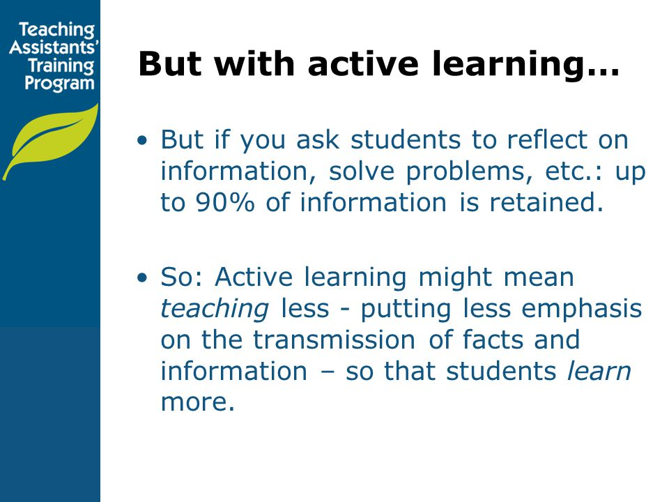 But with active learning…