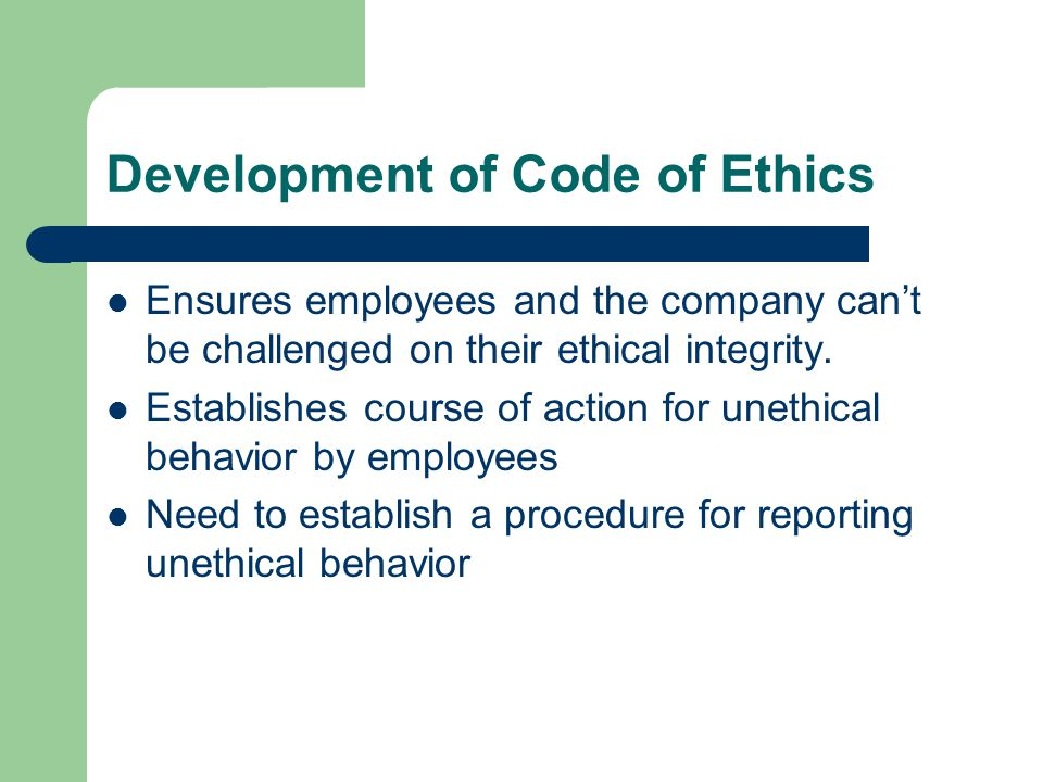 development of a code of ethics Policies code of ethics  development development of the code of ethics legislative mandate and requirements the nz teachers council has a legislated.