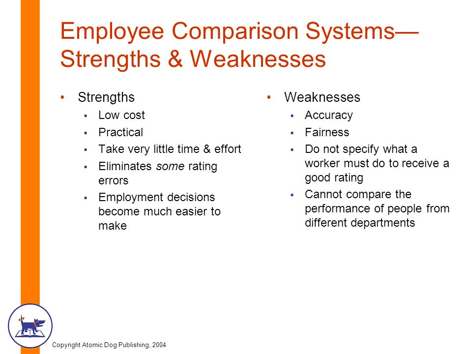 Employee Comparison Systems—Strengths & Weaknesses