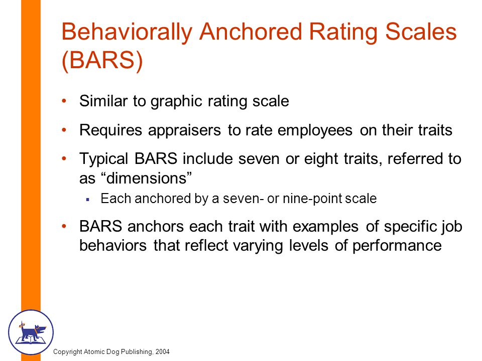 Behaviorally Anchored Rating Scales (BARS)