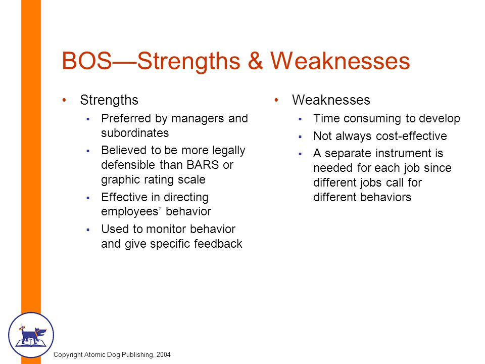 BOS—Strengths & Weaknesses