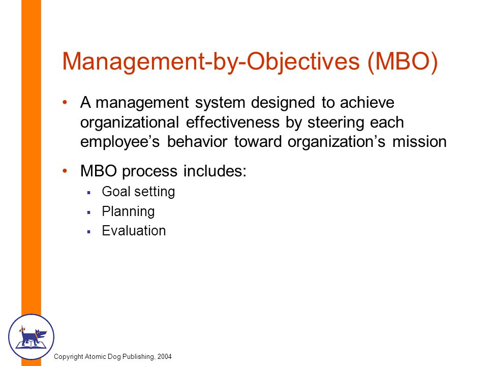 Management-by-Objectives (MBO)