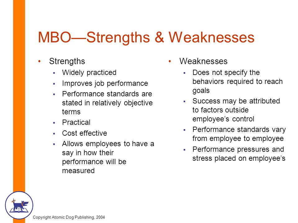 job weaknesses list