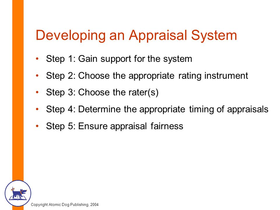 Developing an Appraisal System