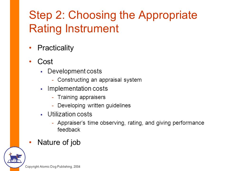 Step 2: Choosing the Appropriate Rating Instrument