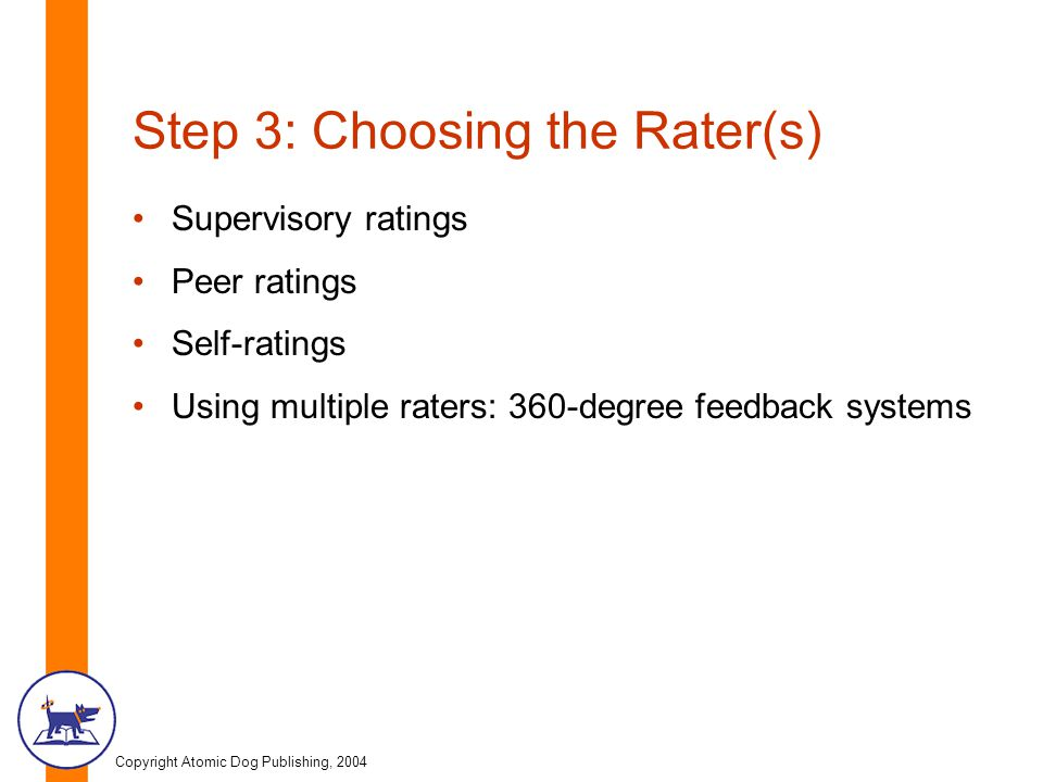 Step 3: Choosing the Rater(s)