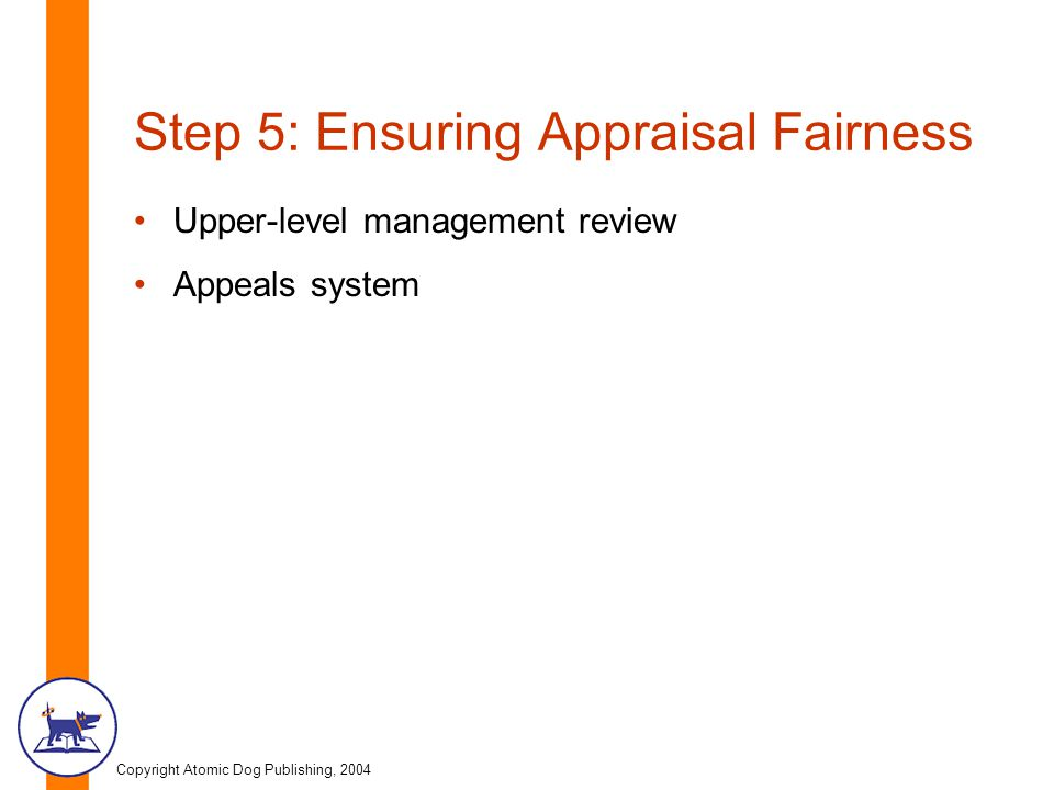 Step 5: Ensuring Appraisal Fairness