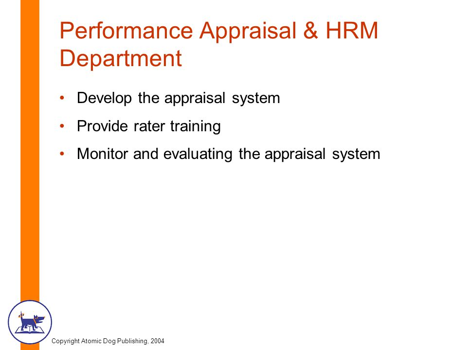 Performance Appraisal & HRM Department