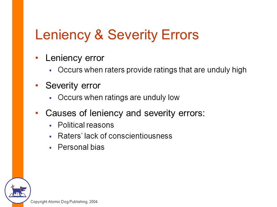 Leniency & Severity Errors
