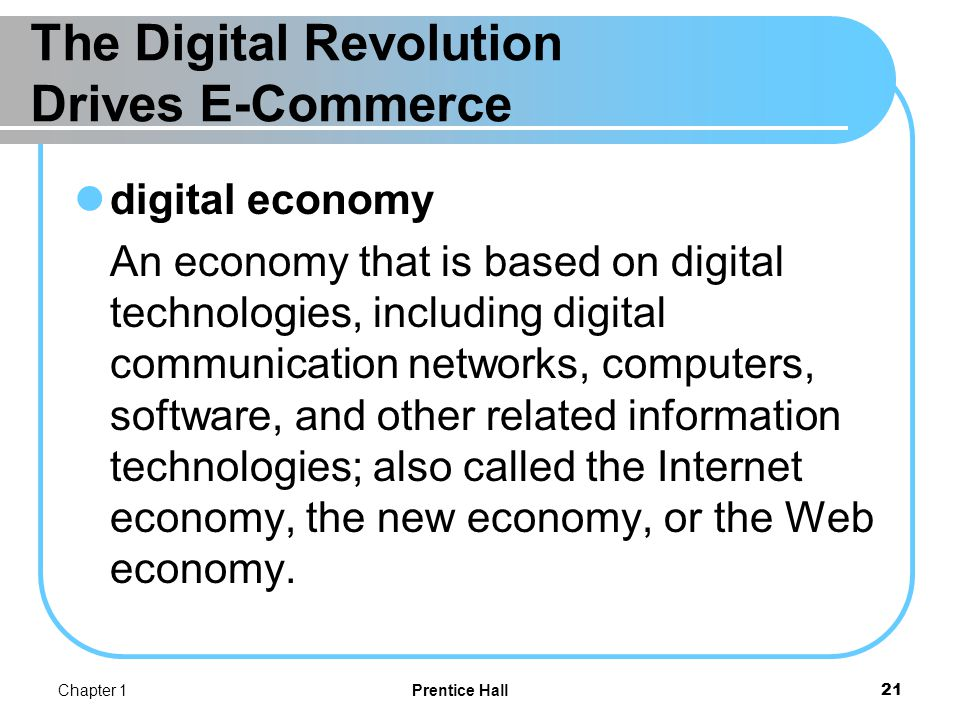 The Digital Revolution Drives E-Commerce