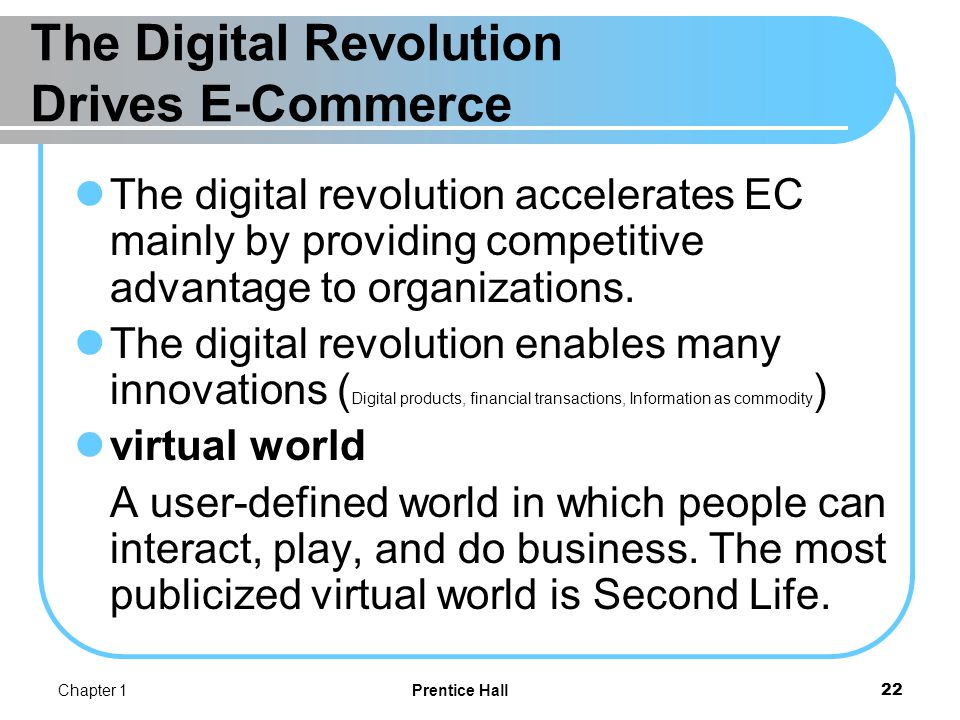 The Business Environment Drives E-Commerce