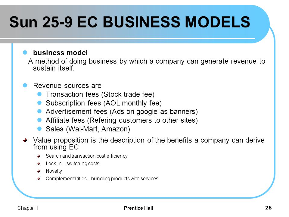 Tue 27-9 (2) EC BUSINESS MODELS