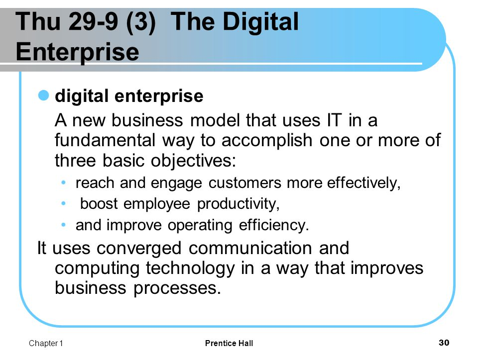 The Digital Enterprise