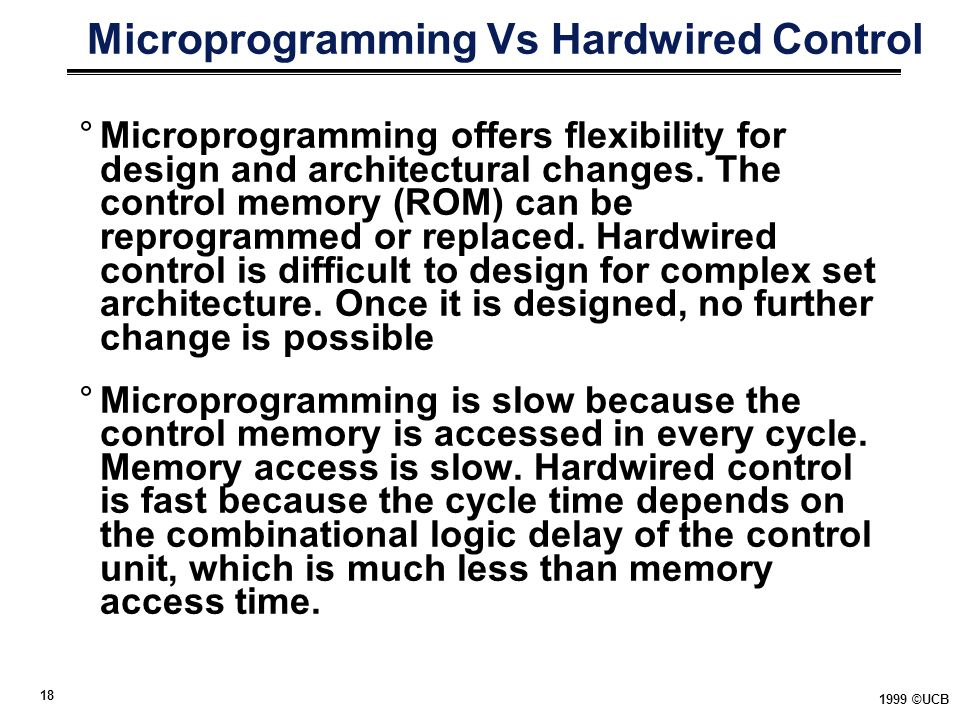 Microprogramming Vs Hardwired Control