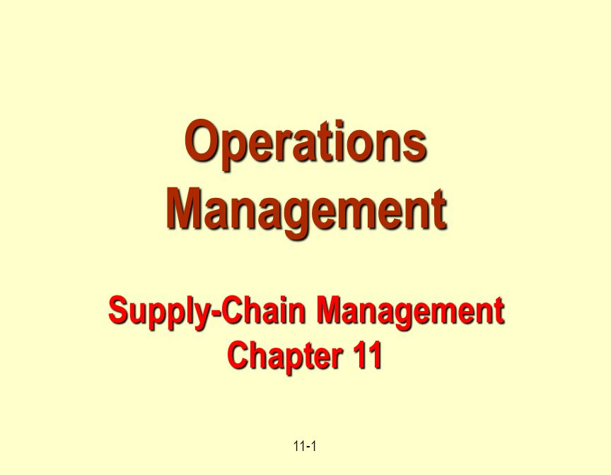 Operations mgmt chapter 1 solution