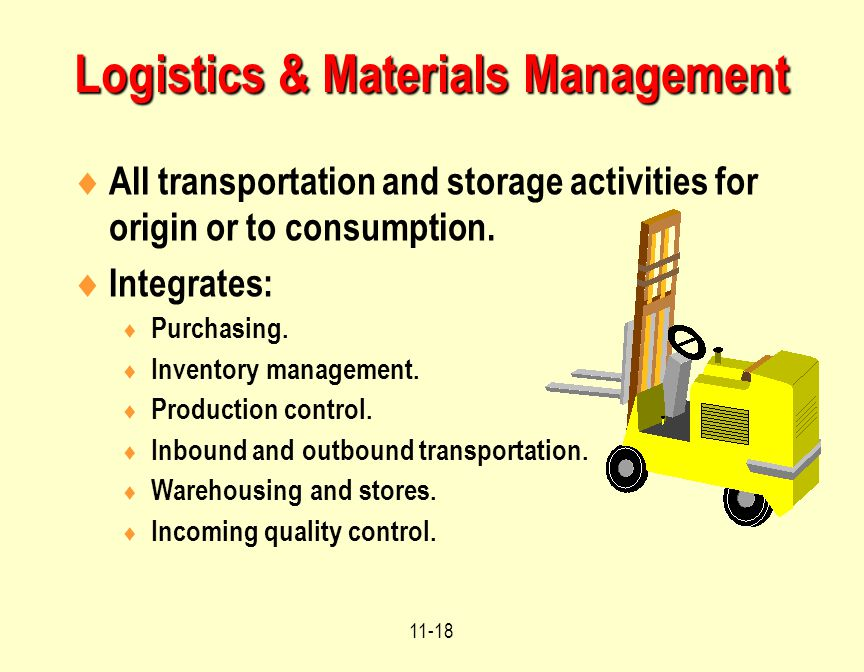 Logistics & Materials Management