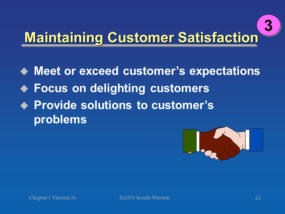 Maintaining Customer Satisfaction